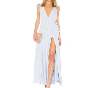 NWT Lovers + friends blur wrap Leah gown